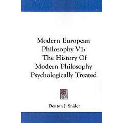 Modern European Philosophy (1) (Paperback)