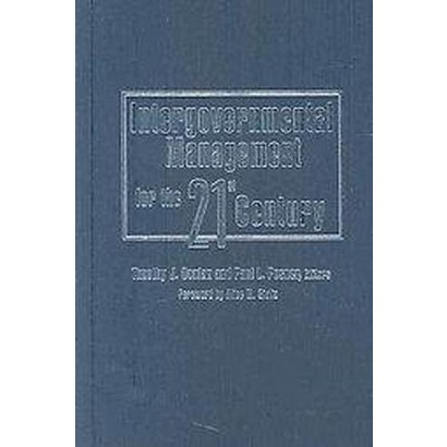 Intergovernmental Management for the Twenty-First Century (Hardcover)
