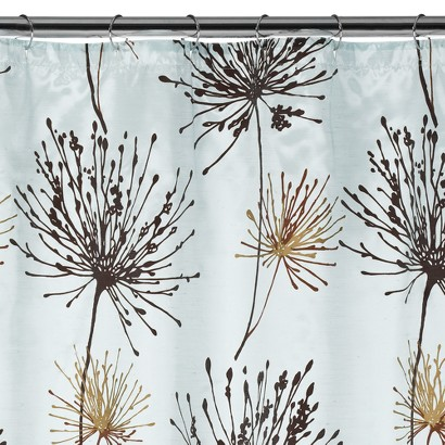 Dandelion Fabric Shower Curtain - Blue