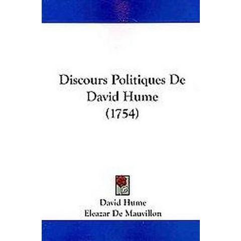 Discours Politiques De David Hume (Paperback)