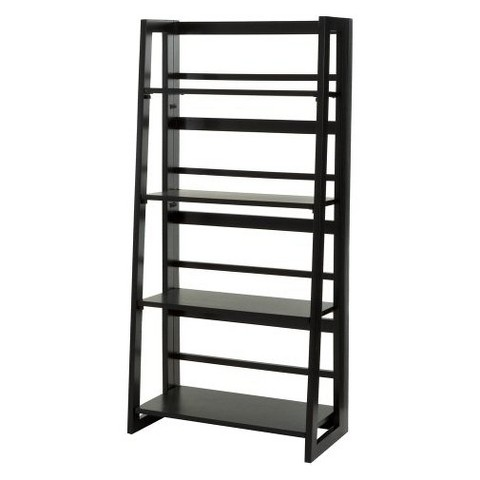 Linon Dolce 4 Shelf Folding Bookcase - Black