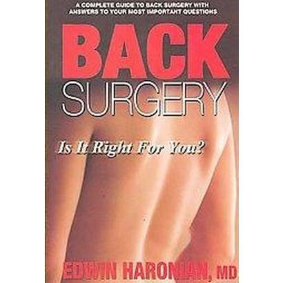 Back Surgery (Paperback)