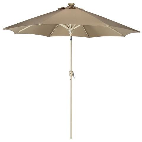 9' Solar Lighted Patio Umbrella
