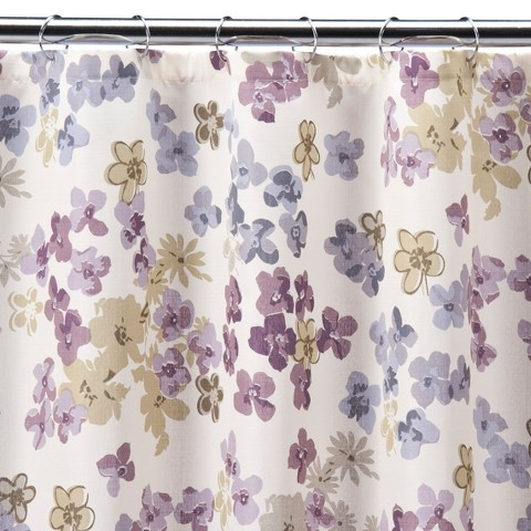 Fresh Picked Floral Shower Curtain Tar