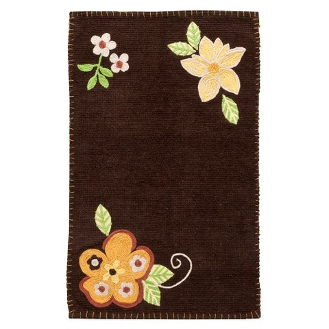 Luxury EverRouge Memory Foam Floral Contour Bath Rug  Free Shipping On