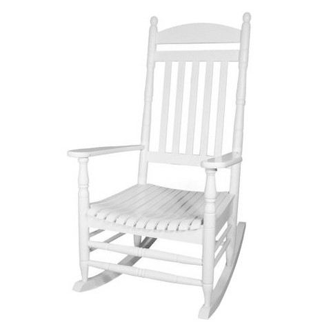 White Wood Patio Rocker