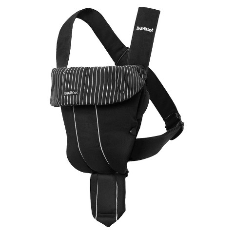 BABYBJÖRN Original Baby Carrier - Black/Pinstripe, Cotton