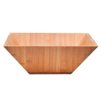 Square Bamboo Salad Serving Bowl