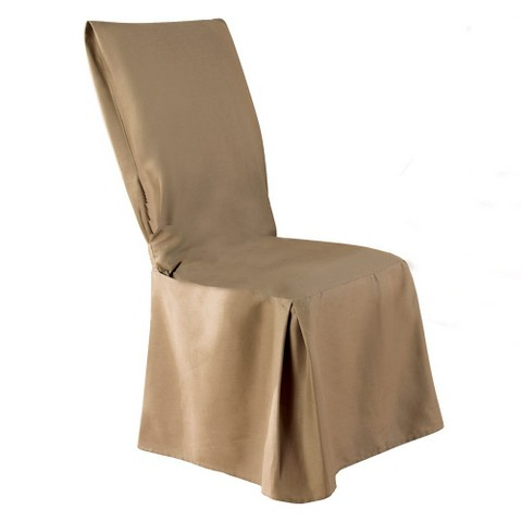 Sure Fit Cotton Duck Long Dining Room Chair Slipcover