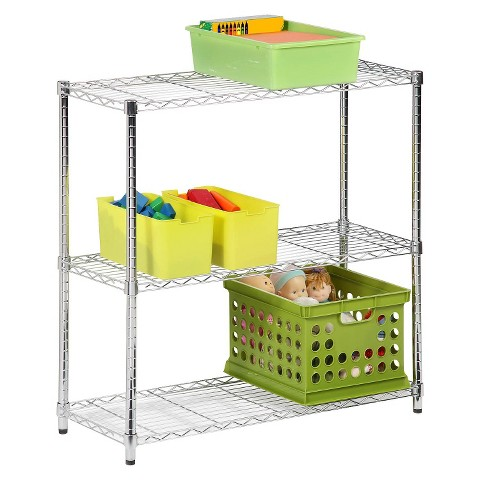 3 Tier Wire Shelving Unit - 200lb per Shelf Capacity