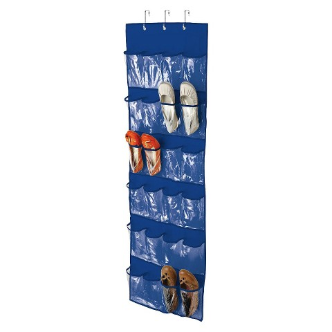 24 Pocket OTD Shoe Organizer Blue