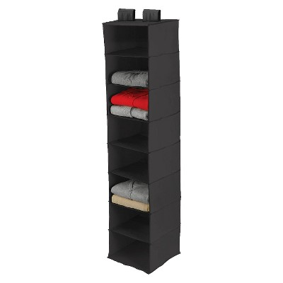 8 Shelf Closet Organizer Black