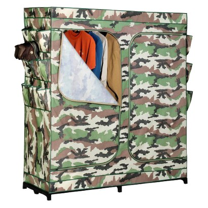 "Freestanding Closet: Honey-Can-Do 60"" Portable Storage Closet"