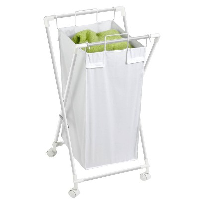 Single Folding Hamper with Casters