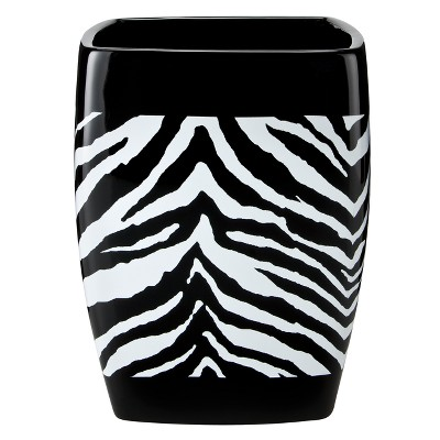 Zebra Ceramic Wastebasket