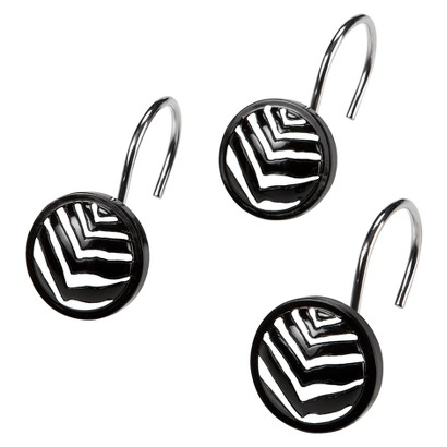 Zebra Shower Curtain Hooks