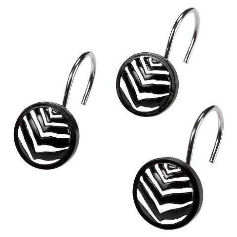 Zebra Shower Curtain Hooks