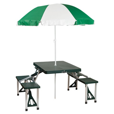 Stansport Picnic Table and Umbrella Combo