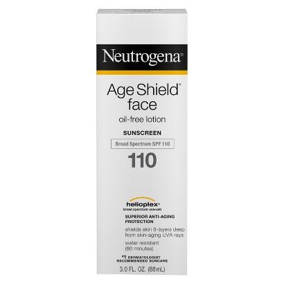 Neutrogena Age Shield Face Lotion Sunscreen Broad Spectrum SPF 110