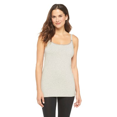 Women's Nursing Cotton Cami Heather Gray L - Gilligan & O'Malley®