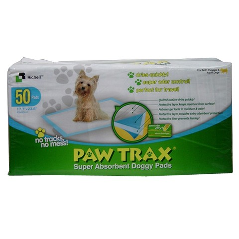 Paw Trax Super Absorbent Training Pads - 50 Pack