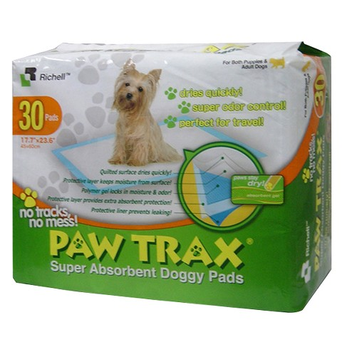 Paw Trax Super Absorbent Training Pads - 30 Pack