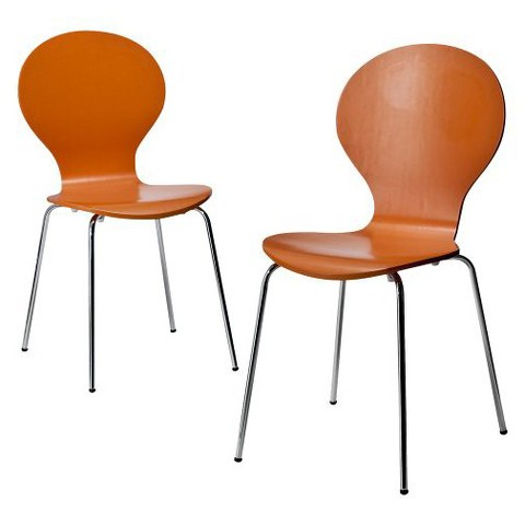 Modern Stacking Chair - Set of 2