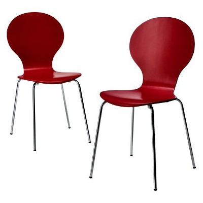 Porter Modern Stacking Chair Red - Set of 2