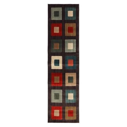 "Mohawk Home Bold Squares Runner - Dark Brown (1'10""x7')"