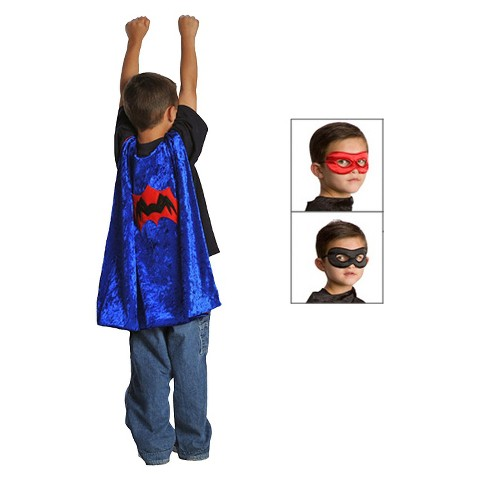 Little Adventures Spider Cape with Reversible Mask - Black/ Red