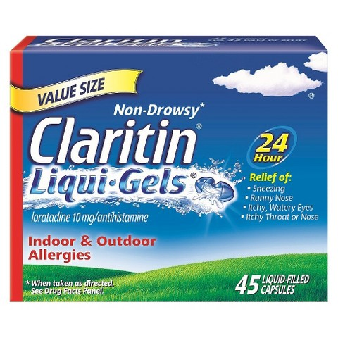 Claritin® 24 Hour Non-Drowsy Allergy Relief Liqui-Gels - 45 Count