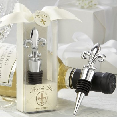 Fleur-de-Lis Bottle Stopper (Set of 12)