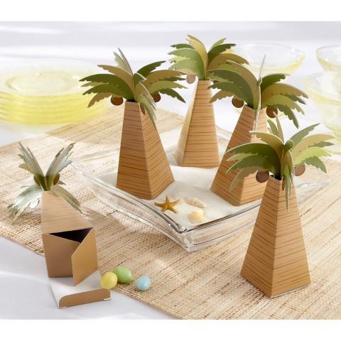 Kate Aspen Palm Tree Favor Box (Set of 24)