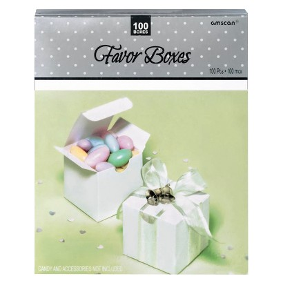 White Favor Boxes - 100 Count
