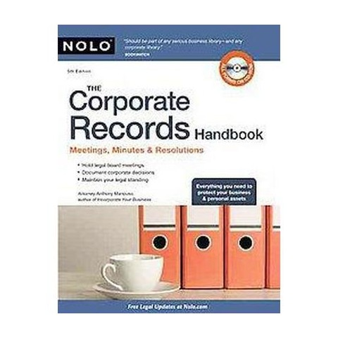 The Corporate Records Handbook (Revised) (Mixed media product)
