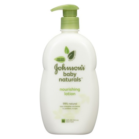 Johnson's Natural Nourishing Baby Lotion - 18 oz.