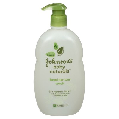 Johnson's Natural Head-to-Toe Foaming Baby Wash - 18 oz.
