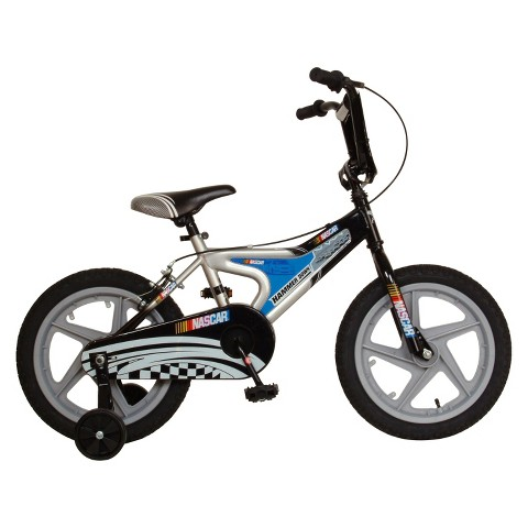 "NASCAR Boys Hammer Down 16"" Bike - Blue/Black"