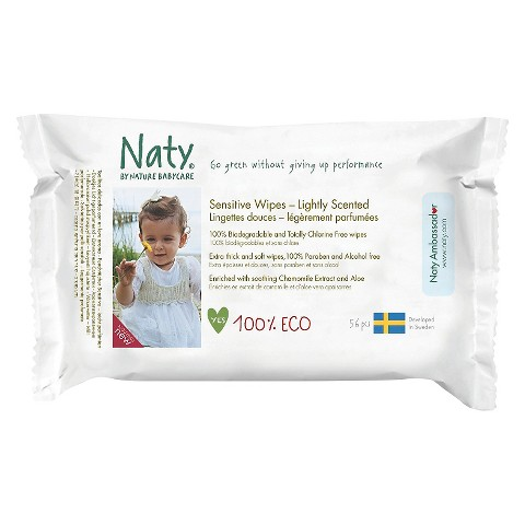 Nature Babycare Eco Sensitive Baby Wipes Lightly Scented (700 Count) 10 Pack