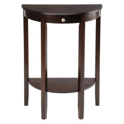 Bay Shore Collection Half Moon Table - Espresso