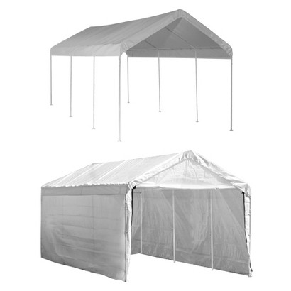 Shelter Logic 20' x 10' Max AP 2 In 1 8-Leg Canopy - White