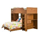 South Shore Sand Castle Storage Bunk Kids Bed - Pine (Twin)