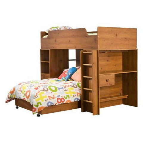 Sand Castle Storage Bunk Kids Bed Pine (Twin) - South Shore