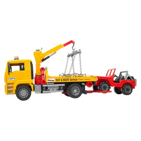 Bruder Man Tow Truck with Cross Country Vehicle