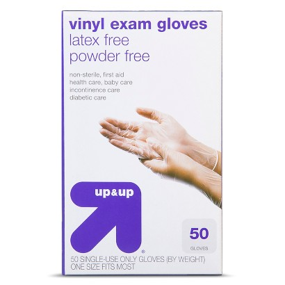 up&up Latex Free Vinyl Exam Gloves