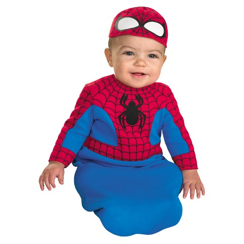 Newborn/Infant Spiderman Bunting Costume 0-6 Months