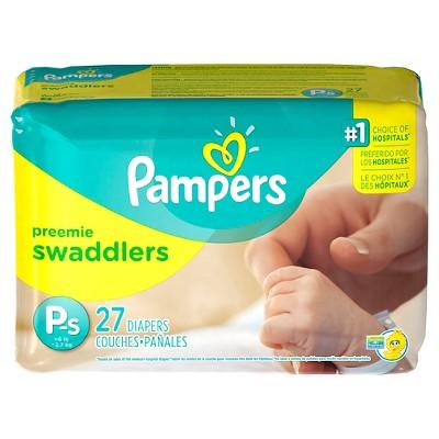 Pampers Swaddlers Diapers Jumbo Packs - Preemie (31 Count)