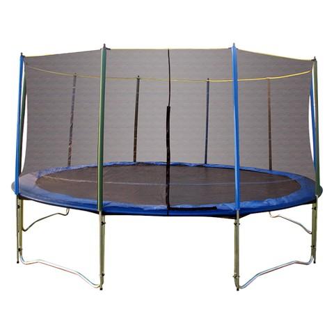 Pure Fun Trampoline Combo Set with Enclosure - Silver/ Blue (15')