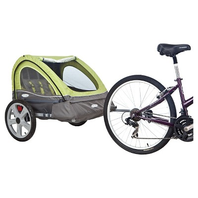 InSTEP Sierra Bicycle Trailer - Green/ Gray (Double)