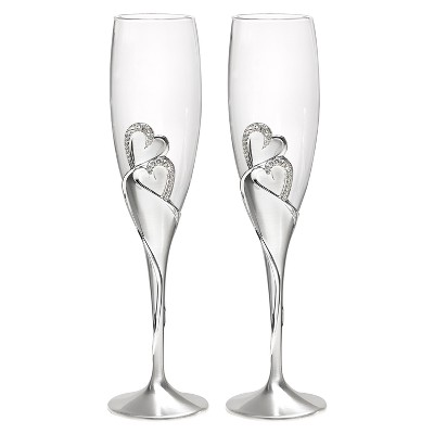 Sparkling Love Wedding Collection Champagne Flutes